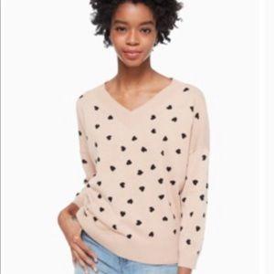 NWT Kate Spade Heartbeat Sweater